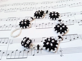 Diamond SuperDuo Bracelet Beadwork Kit - Black and White